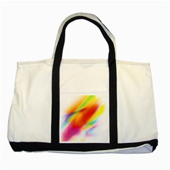 Blur Color Colorful Background Two Tone Tote Bag