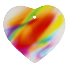 Blur Color Colorful Background Heart Ornament (2 Sides)