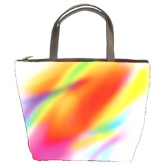 Blur Color Colorful Background Bucket Bags