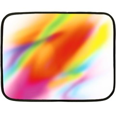 Blur Color Colorful Background Double Sided Fleece Blanket (Mini)