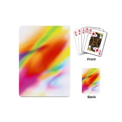 Blur Color Colorful Background Playing Cards (Mini)