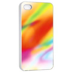 Blur Color Colorful Background Apple iPhone 4/4s Seamless Case (White)