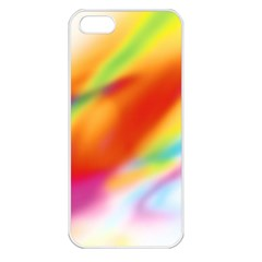 Blur Color Colorful Background Apple iPhone 5 Seamless Case (White)
