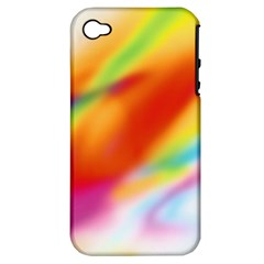 Blur Color Colorful Background Apple iPhone 4/4S Hardshell Case (PC+Silicone)