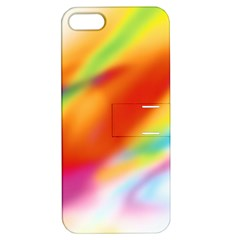 Blur Color Colorful Background Apple iPhone 5 Hardshell Case with Stand