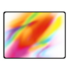 Blur Color Colorful Background Double Sided Fleece Blanket (Small)