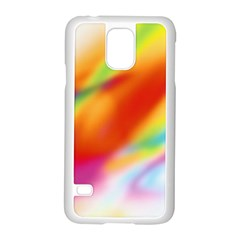 Blur Color Colorful Background Samsung Galaxy S5 Case (White)