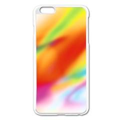 Blur Color Colorful Background Apple iPhone 6 Plus/6S Plus Enamel White Case