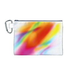 Blur Color Colorful Background Canvas Cosmetic Bag (M)
