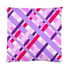 Diagonal Gingham Geometric Standard Cushion Case (One Side)