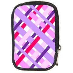 Diagonal Gingham Geometric Compact Camera Cases
