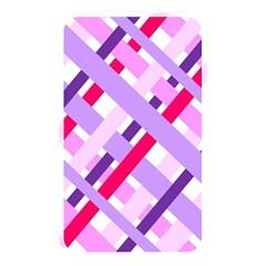 Diagonal Gingham Geometric Memory Card Reader