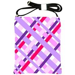 Diagonal Gingham Geometric Shoulder Sling Bags