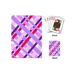 Diagonal Gingham Geometric Playing Cards (Mini)