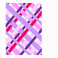 Diagonal Gingham Geometric Small Garden Flag (Two Sides)