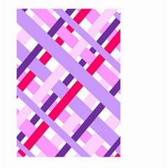 Diagonal Gingham Geometric Large Garden Flag (Two Sides)