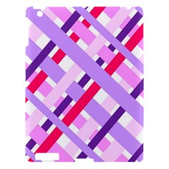 Diagonal Gingham Geometric Apple iPad 3/4 Hardshell Case
