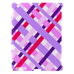Diagonal Gingham Geometric Apple iPad 3/4 Hardshell Case (Compatible with Smart Cover)
