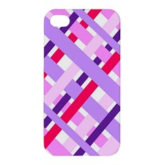 Diagonal Gingham Geometric Apple iPhone 4/4S Premium Hardshell Case