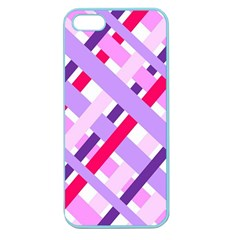 Diagonal Gingham Geometric Apple Seamless iPhone 5 Case (Color)