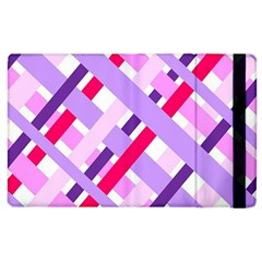 Diagonal Gingham Geometric Apple iPad 2 Flip Case