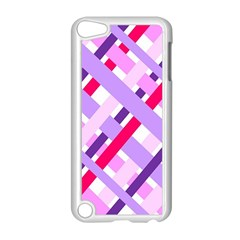 Diagonal Gingham Geometric Apple iPod Touch 5 Case (White)