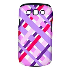 Diagonal Gingham Geometric Samsung Galaxy S III Classic Hardshell Case (PC+Silicone)