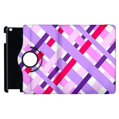 Diagonal Gingham Geometric Apple iPad 3/4 Flip 360 Case