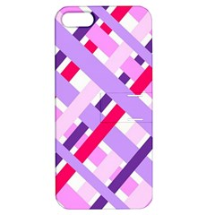 Diagonal Gingham Geometric Apple iPhone 5 Hardshell Case with Stand