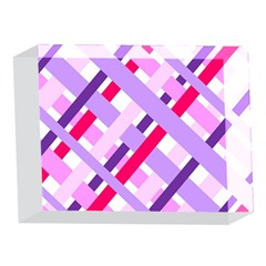 Diagonal Gingham Geometric 5 x 7  Acrylic Photo Blocks