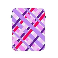 Diagonal Gingham Geometric Apple iPad 2/3/4 Protective Soft Cases