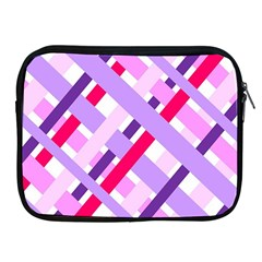 Diagonal Gingham Geometric Apple iPad 2/3/4 Zipper Cases
