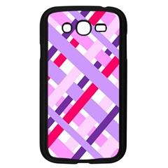 Diagonal Gingham Geometric Samsung Galaxy Grand DUOS I9082 Case (Black)