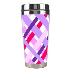 Diagonal Gingham Geometric Stainless Steel Travel Tumblers