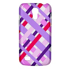 Diagonal Gingham Geometric Galaxy S4 Mini