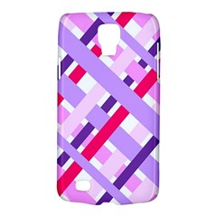 Diagonal Gingham Geometric Galaxy S4 Active