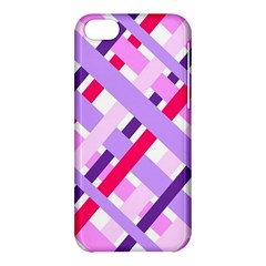 Diagonal Gingham Geometric Apple iPhone 5C Hardshell Case