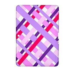 Diagonal Gingham Geometric Samsung Galaxy Tab 2 (10.1 ) P5100 Hardshell Case
