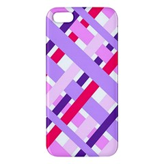 Diagonal Gingham Geometric iPhone 5S/ SE Premium Hardshell Case
