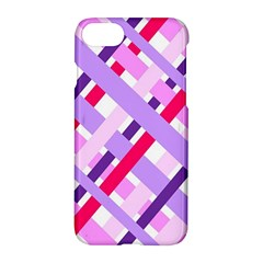 Diagonal Gingham Geometric Apple iPhone 7 Hardshell Case