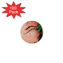 Background Stone Wall Pink Tree 1  Mini Buttons (100 pack)