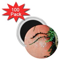 Background Stone Wall Pink Tree 1.75  Magnets (100 pack)