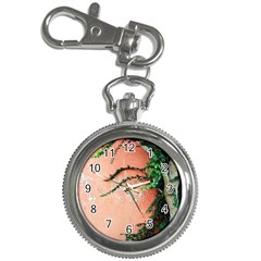 Background Stone Wall Pink Tree Key Chain Watches