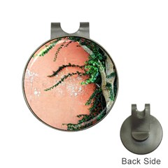 Background Stone Wall Pink Tree Hat Clips with Golf Markers