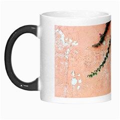 Background Stone Wall Pink Tree Morph Mugs