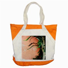 Background Stone Wall Pink Tree Accent Tote Bag