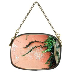 Background Stone Wall Pink Tree Chain Purses (One Side)