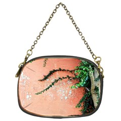 Background Stone Wall Pink Tree Chain Purses (Two Sides)