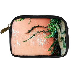 Background Stone Wall Pink Tree Digital Camera Cases