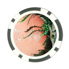 Background Stone Wall Pink Tree Poker Chip Card Guards (10 pack)
